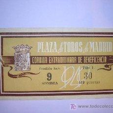 Tauromaquia: ENTRADA DE TOROS DE MADRID (GRAN CORRIDA DE LA BENEFICENCIA DE 1949. Lote 16355960