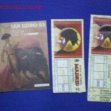 Tauromaquia: SAN ISIDRO 1983. Lote 15220426