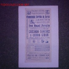 Tauromaquia: PLAZA DE TOROS UTIEL (PERALTA - GIRON - SANCHEZ ). Lote 26189587