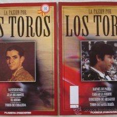 Tauromaquia: LA PASIÓN POR LOS TOROS - Nº 12 Y 14 - PLANETA-DEAGOSTINI - BARCELONA - TAUROMAQUIA. . Lote 15891667