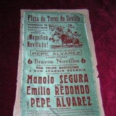 Tauromaquia: CARTEL DE TOROS EN SEDA DEL AÑO 1958. PLAZA DE TOROS DE SEVILLA.. Lote 21510071