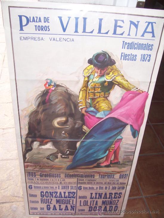 CARTEL TOROS - 1973 - VILLENA (ALICANTE) (Coleccionismo - Tauromaquia)