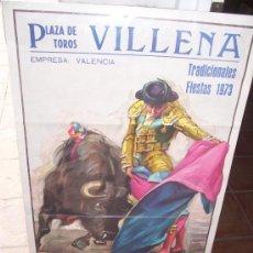 Tauromaquia: CARTEL TOROS - 1973 - VILLENA (ALICANTE). Lote 26326296