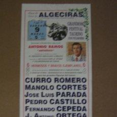 Tauromaquia: CARTEL DE TOROS. PLAZA DE TOROS DE ALGECIRAS. 1991. . Lote 12735838