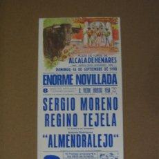 Tauromaquia: CARTEL DE TOROS. PLAZA DE TOROS DE ALCALA DE HENARES. 1990. . Lote 12736069