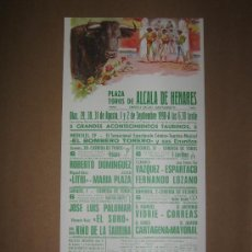 Tauromaquia: CARTEL DE TOROS. PLAZA DE TOROS DE ALCALA DE HENARES 1990. . Lote 12736210