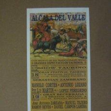 Tauromaquia: CARTEL DE TOROS. PLAZA DE TOROS DE ALCALA DEL VALLE. 1990. . Lote 12736262