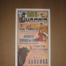 Tauromaquia: CARTEL DE TOROS. PLAZA DE TOROS MADRID. 1982. . Lote 12954077