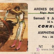 Tauromaquia: PLAZA DE TOROS DE ARENES DE NIMES - FRANCIA - 9 DE JUNIO DE 1984 - ET243. Lote 13462144