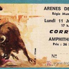 Tauromaquia: PLAZA DE TOROS DE ARENES DE NIMES - FRANCIA - 11 DE JUNIO DE 1984 - ET269. Lote 13467284