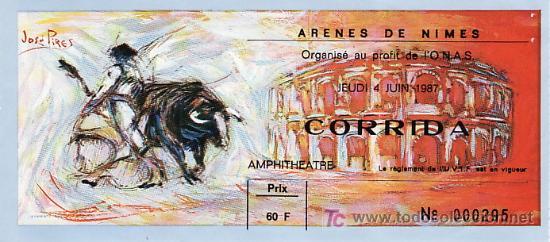 ARÈNES DE NIMES - FRANCIA - 4 DE JUNIO DE 1987 - ET301 (Coleccionismo - Tauromaquia)