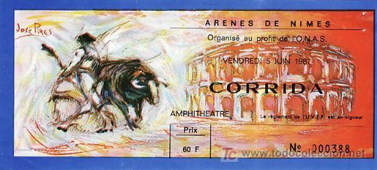 ARÈNES DE NIMES - FRANCIA - 5 DE JUNIO DE 1987 - ET302 (Coleccionismo - Tauromaquia)