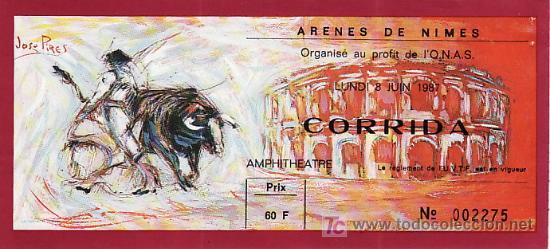 ARÈNES DE NIMES - FRANCIA - 8 DE JUNIO DE 1987 - ET304 (Coleccionismo - Tauromaquia)