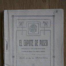 Tauromaquia: EL CAPOTE DE PASEO. TRIANERAS (JOSÉ DE LAS). Lote 13660198