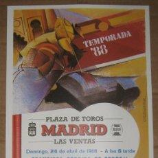 Tauromaquia: CARTEL DE TOROS. PLAZA DE MADRID. 1988. FCO. RUIZ, TOMAS CAMPUZANO, RAFAEL DE LA VIÑA.. Lote 14185180