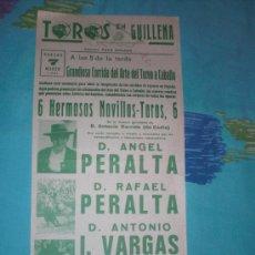 Tauromaquia: SEVILLA. CARTEL DE TOROS. PLAZA DE TOROS DE GUILLENA. ANGEL Y RAFAEL PERALTA, I. VARGAS. 1981. . Lote 14627173