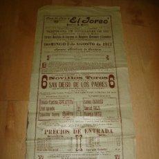 Tauromaquia: PLAZA DE TOROS EL TOREO EMPRESA MADRID MEXICO 1913. ESPELETITA, JOSE AMUEDO, CHANITO. Lote 14928213