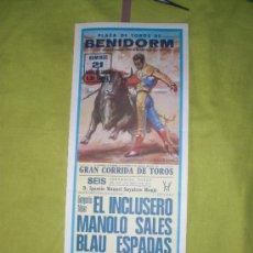 Tauromaquia: VALENCIA. CARTEL DE TOROS. PLAZA DE TOROS DE BENIDORM. EL INCLUSERO, SALES, ESPADAS. 1983.. Lote 15114214