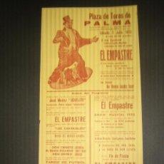 Tauromaquia: CARTEL DE TOROS. PLAZA DE TOROS DE PALMA. 1973. ESPECTACULO COMICO TAURINO MUSICAL.. Lote 15203863