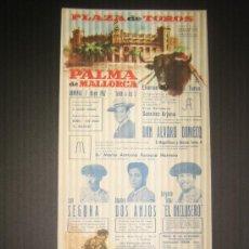 Tauromaquia: CARTEL DE TOROS. PLAZA DE TOROS DE PALMA DE MALLORCA. 1967. SEGURA. DOS ANJOS. EL INCLUSERO.. Lote 15345605