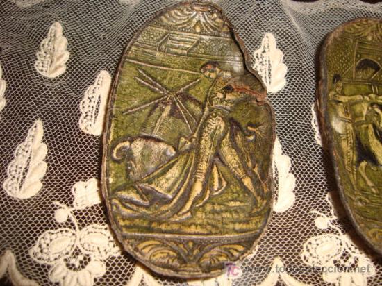 Tauromaquia: 3 preciosas orejas de toro, con motivos taurinos y flamencos repujados, y perfilados, tarsidermistas - Foto 6 - 26154085