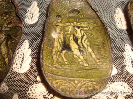 Tauromaquia: 3 preciosas orejas de toro, con motivos taurinos y flamencos repujados, y perfilados, tarsidermistas - Foto 8 - 26154085