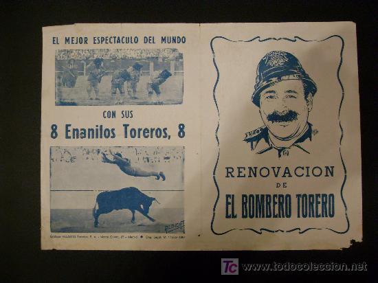 Tauromaquia: CARTEL DE CIRCO. PLAZA DE TOROS DE CORDOBA. 1967. EL BOMBERO TORERO. CARAVANA. AREVALO. GRAN LUICHI. - Foto 2 - 15595103
