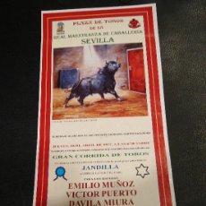 Tauromaquia: ALTERNATIVA DE DAVILA MIURA. PLAZA DE TOROS DE SEVILLA. 1997.. Lote 16525016