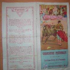 Tauromaquia: PROGRAMA DE MANO DE LA PLAZA DE TOROS DE VELILLA DE SAN ANTONIO1930. Lote 26777230