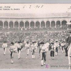 Tauromaquia: CORRIDA DE TOROS.- EL PASEO. HAUSER Y MENET 122. FRANQUEADA Y FECHADA EN 1908.. Lote 16811117