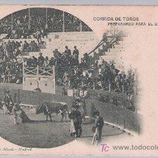 Tauromaquia: POSTAL. CORRIDA DE TOROS. PREPARANDO PARA EL DESCABELLO. HAUSER Y MENET 699. ANTERIOR A 1906.. Lote 16826720