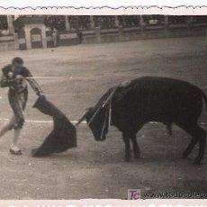 Tauromaquia: FOTOGRAFÍA 8,5X12.AL DORSO:RONDA FERIA DE MAYO 1950. JUAN DE LA PALMA ENTRANDO A MATAR.. Lote 16844516