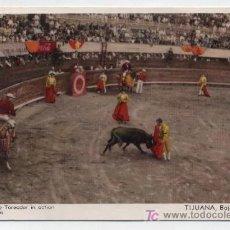 Tauromaquia: POSTAL. BULL RING,THE TOREADOR IN ACTION. TIJUANA BAJA CALIFORNIA. FRANQUEADO Y FECHADO EN 1914.. Lote 18055382