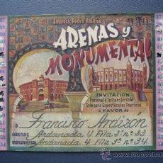 Tauromaquia: PASE TEMPORADA 1946 - BARCELONA - PLAZAS DE TOROS MONUMENTAL Y ARENAS. Lote 26856013