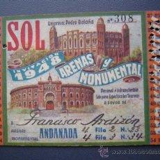 Tauromaquia: PASE TEMPORADA 1948 - BARCELONA - PLAZAS DE TOROS MONUMENTAL Y ARENAS. Lote 26856014
