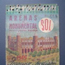 Tauromaquia: PASE TEMPORADA 1949 - BARCELONA - PLAZAS DE TOROS MONUMENTAL Y ARENAS. Lote 26856015