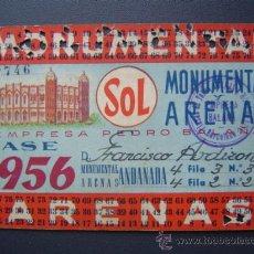 Tauromaquia: PASE TEMPORADA 1956 - BARCELONA - PLAZAS DE TOROS MONUMENTAL Y ARENAS. Lote 26809425