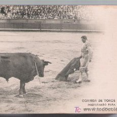 Tauromaquia: POSTAL. CORRIDA DE TOROS. PREPARANDO PARA MATAR. HAUSER Y MENET 1696. ANTERIOR A 1906.. Lote 18589664