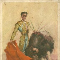 Tauromaquia: POSTAL GIGANTE FIGURAS DEL TOREO MANUEL RODRIGUEZ MANOLETE. Lote 19015885