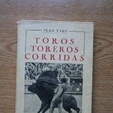 Tauromaquia: MANUEL DE TAUROMACHIE. TOROS, TOREROS, CORRIDAS. VARO (JUAN). Lote 19097439
