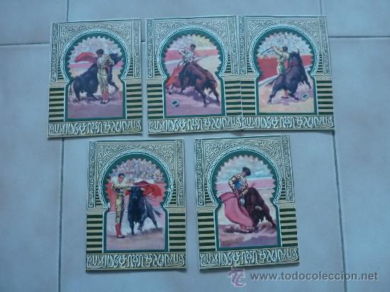 LOTE DE 5 POSTALES CARTAS DE TOREROS. ANTIGUAS. TOROS. (Coleccionismo - Tauromaquia)