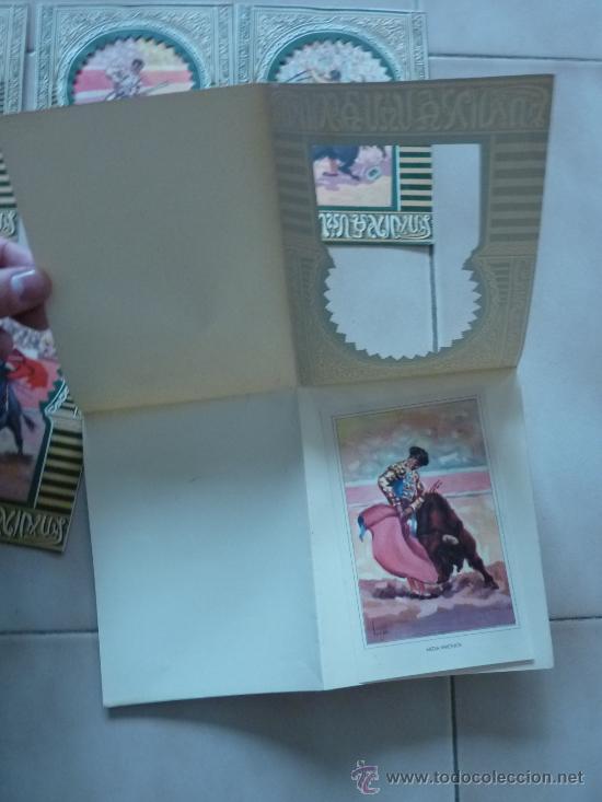 Tauromaquia: lote de 5 postales cartas de toreros. Antiguas. Toros. - Foto 2 - 27020722
