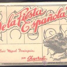 Tauromaquia: ÁLBUM CON DIEZ POSTALES DE LA FIESTA ESPAÑOLA CON LANCES DE LUIS MIGUEL DOMINGUIN. Lote 19404193