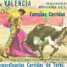 Tauromaquia: PROGRAMA DE MANO PLAZA DE TOROS DE VALENCIA. FAMOSAS CORRIDAS FALLERAS 1968. Lote 27161978