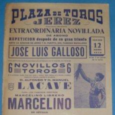 Tauromaquia: CARTEL DE TOROS. PLAZA DE TOROS DE JEREZ DE LA FRA. 12 DE ABRIL DE 1970.. Lote 20338870