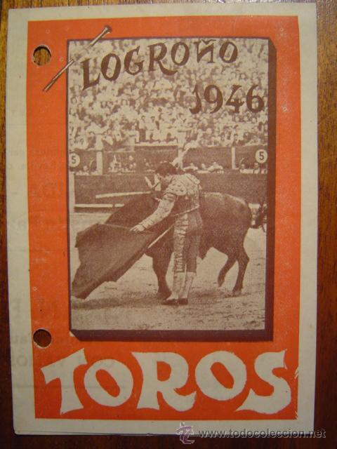 LOGROÑO 1946 - PROGRAMA DE TOROS DE FERIAS Y FIESTAS DE SAN MATEO - DESPLEGABLE (Coleccionismo - Tauromaquia)