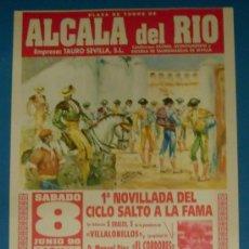 Tauromaquia: CARTEL DE TOROS. PLAZA DE TOROS DE ALCALA DEL RIO. 8 DE JUNIO 1996.. Lote 21051125