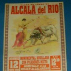 Tauromaquia: CARTEL DE TOROS. PLAZA DE TOROS DE ALCALA DEL RIO. HOMENAJE A LA MUJER ALCALAREÑA. 1996.. Lote 21051520