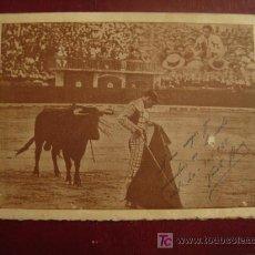 Tauromaquia: PROGRAMA HOMENAJE Y FOTOGRAFIA CON AUTOGRAFO DE VICENTE BARRERA. VALENCIA 20 OCTUBRE 1928. . Lote 27575417