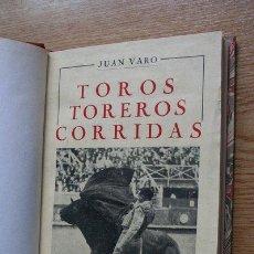 Tauromaquia: MANUEL DE TAUROMACHIE. TOROS, TOREROS, CORRIDAS. VARO (JUAN). Lote 21396379